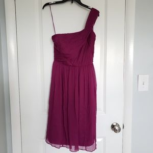 NWT J. Crew one shoulder cocktail bridesmaid dress